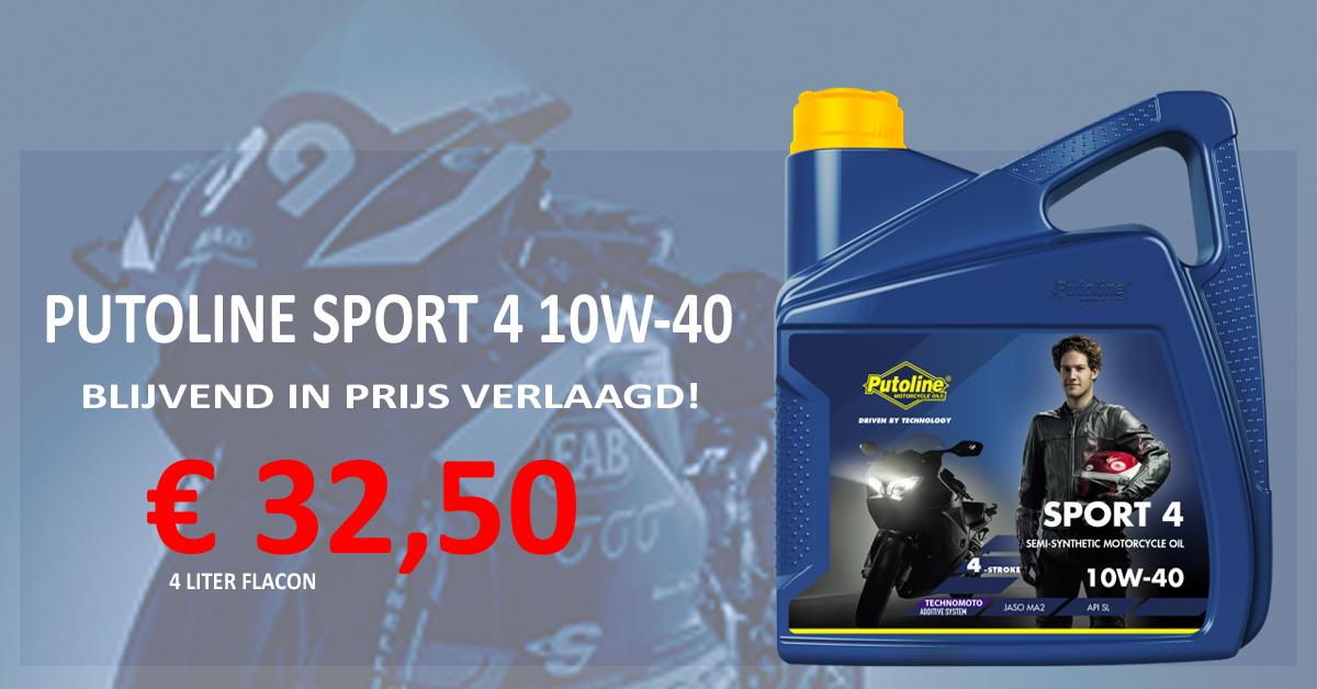 Putoline Sport 4 10W-40 - Actieprijs